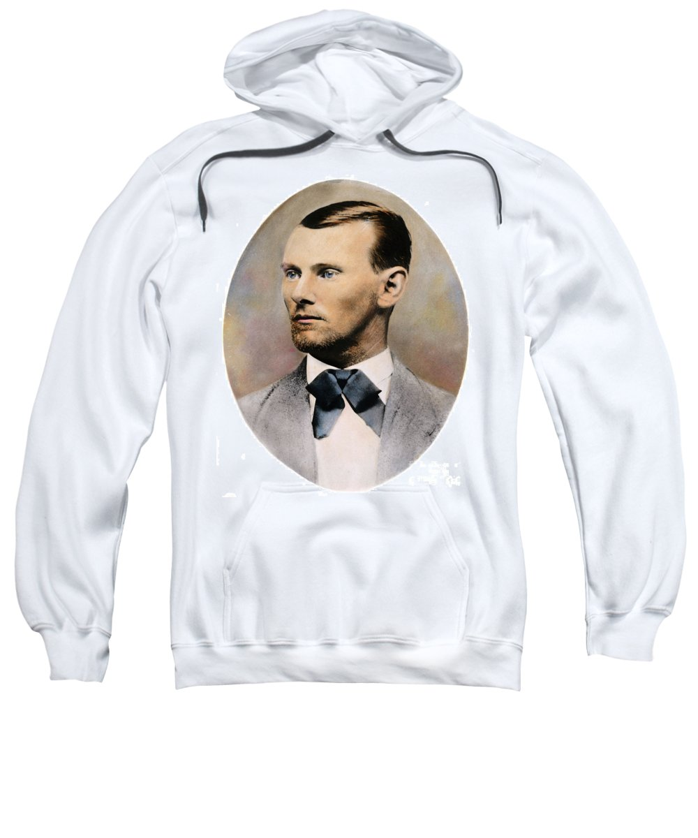 19th Century Sweatshirt featuring the photograph Jesse James, 1847-1882 by Granger