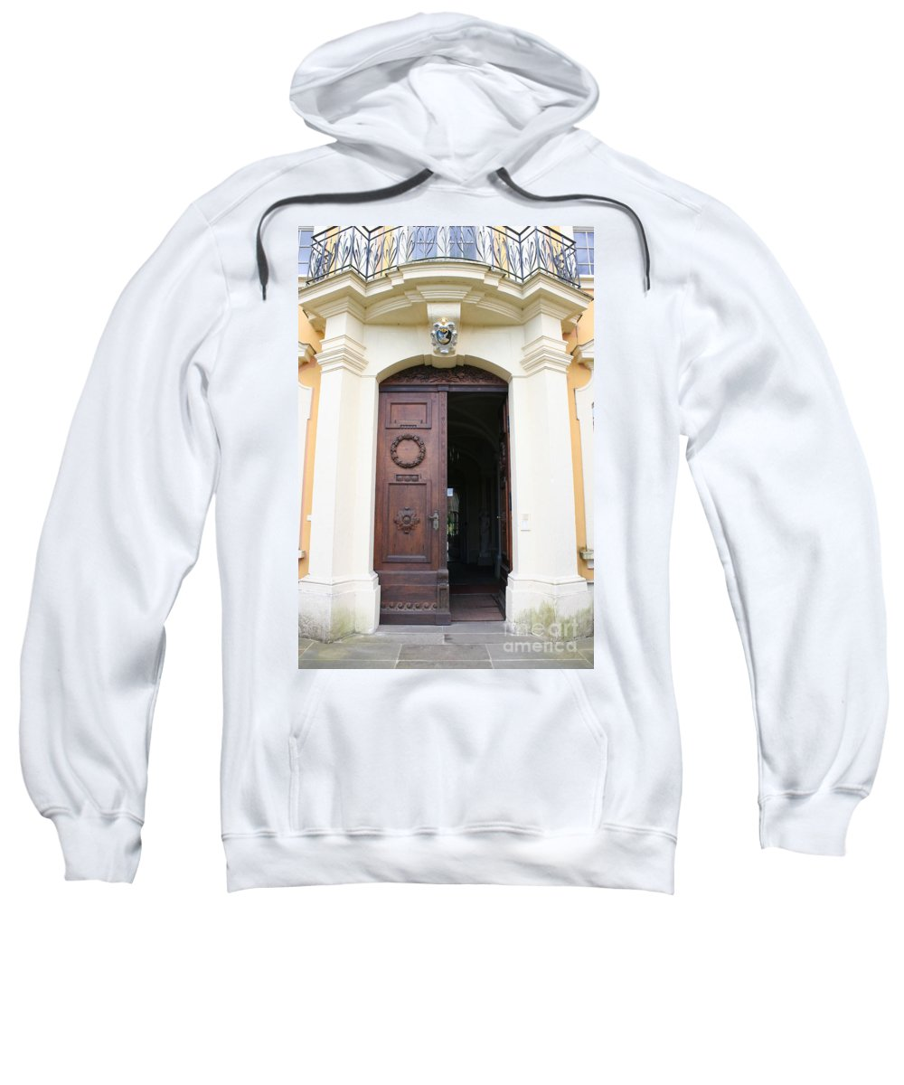 Old Carved Door Sweatshirt featuring the photograph Old Carved Door by Christiane Schulze Art And Photography