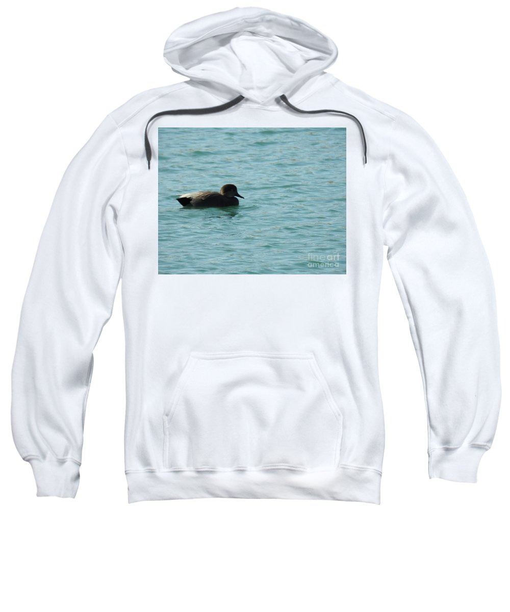 Swimming Alone Sweatshirt featuring the photograph Swimming Alone by Ruth Housley