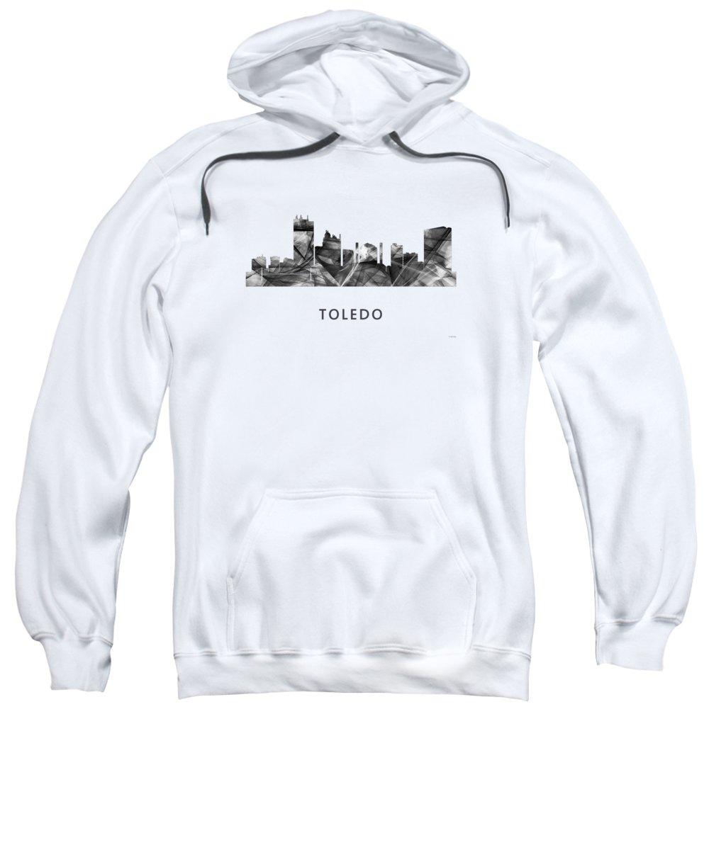 Toledo Ohio Skyline Sweatshirt featuring the digital art Toledo Ohio Skyline by Marlene Watson