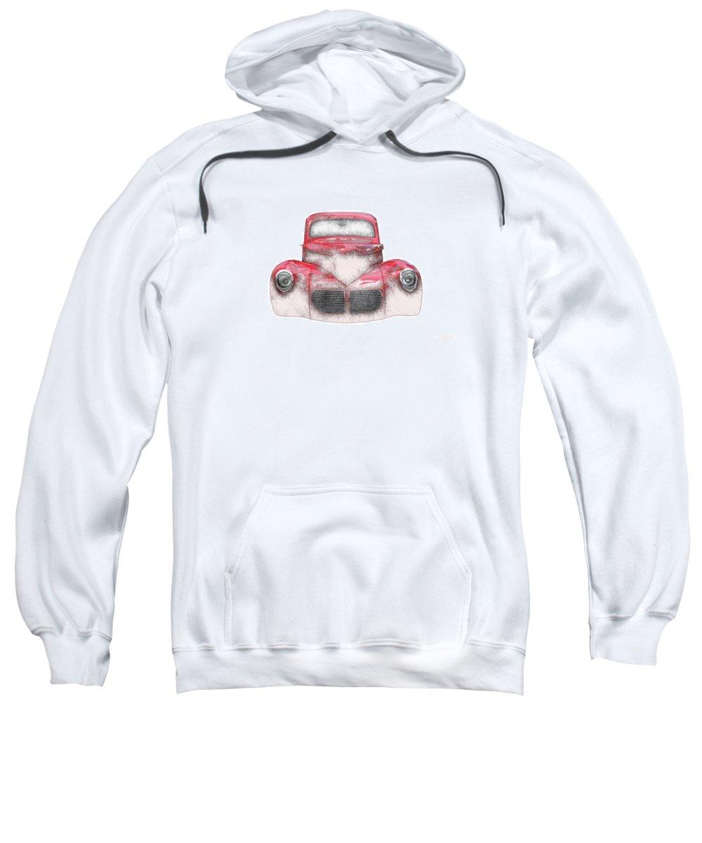 1940 Sweatshirt featuring the digital art 40 Willys by RT Bozarth