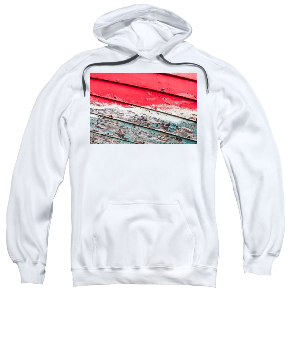 Abandoned Sweatshirt featuring the photograph Weathered Wood by Tom Gowanlock