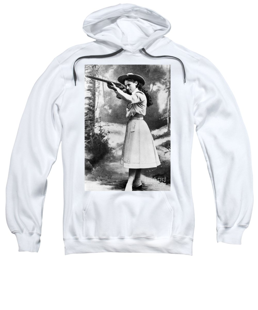19th Century Sweatshirt featuring the photograph Annie Oakley (1860-1926) by Granger