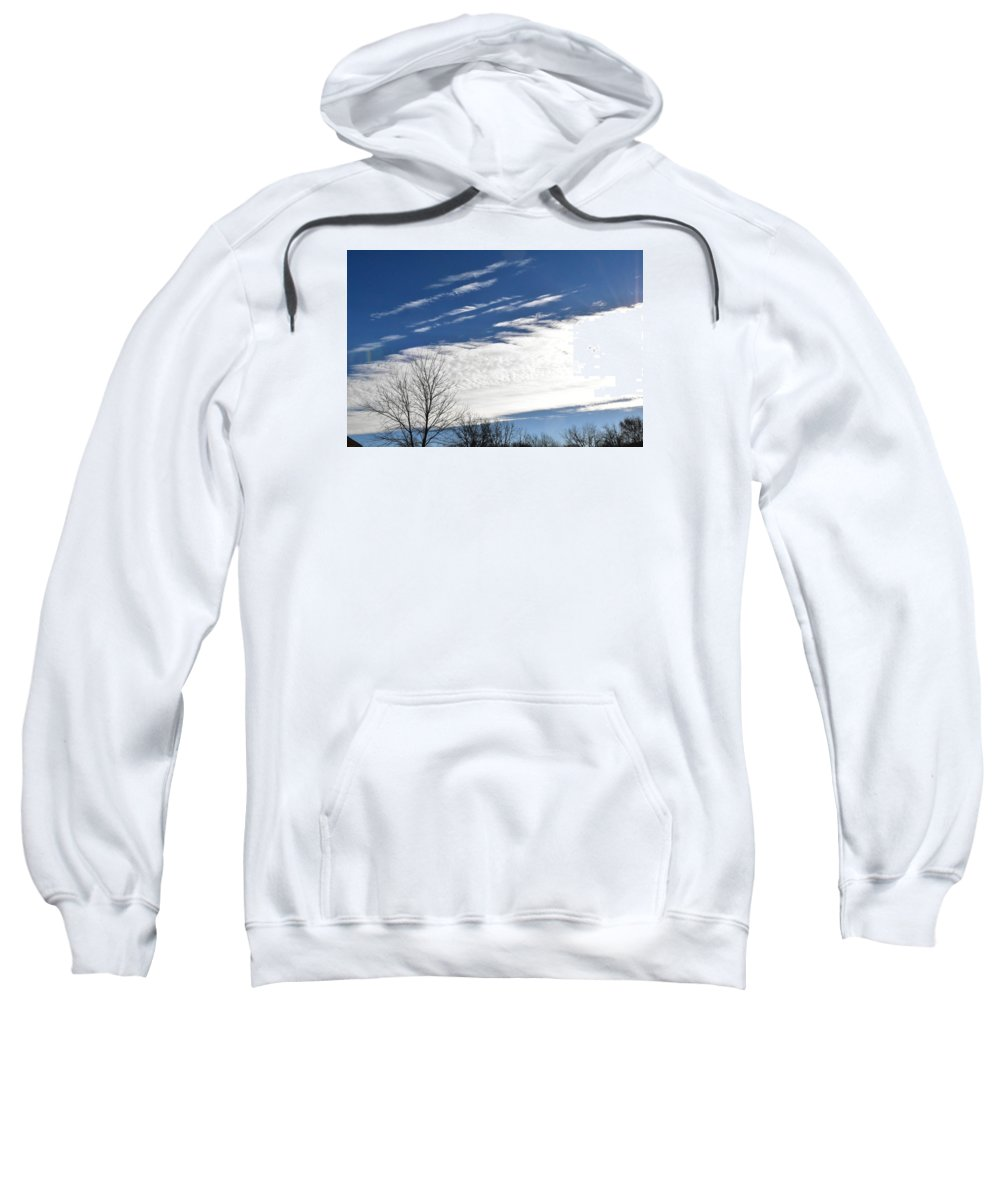 Clouds Sweatshirt featuring the photograph Clouds by Diane Hester