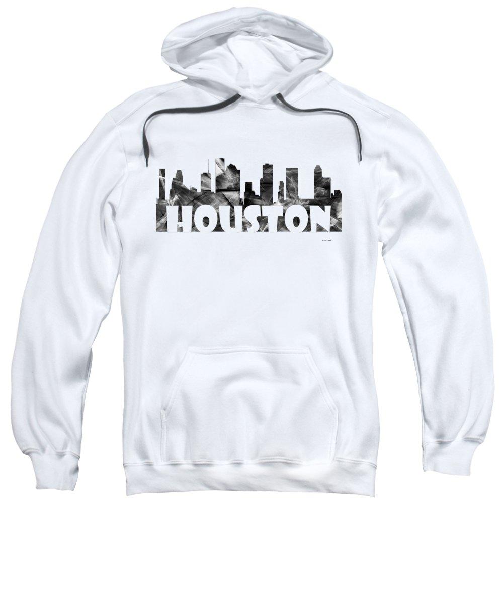 Houston Texas Skyline Sweatshirt featuring the digital art Houston Texas Skyline by Marlene Watson