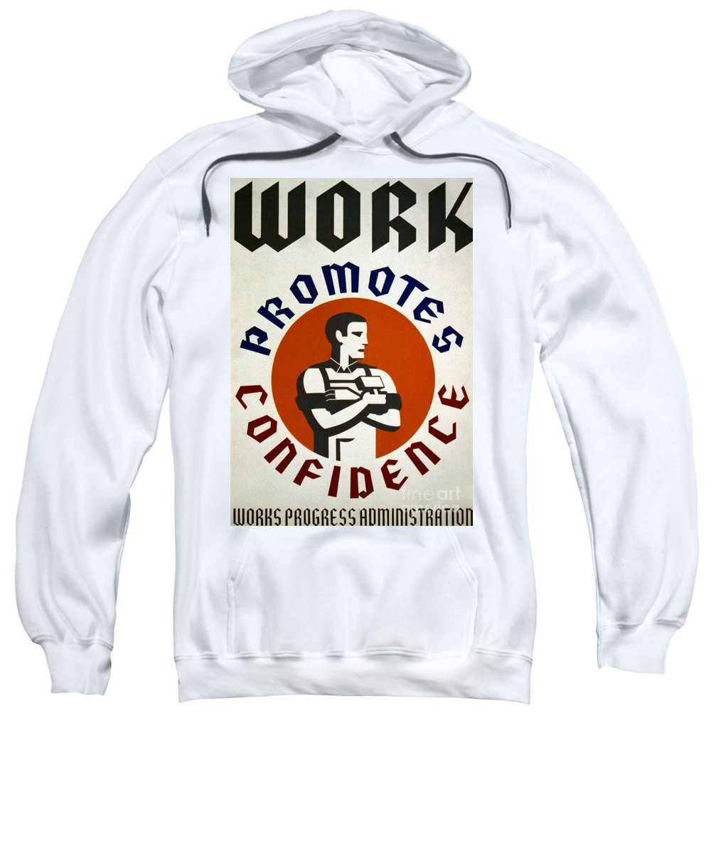 1930s Sweatshirt featuring the photograph New Deal: Wpa Poster by Granger