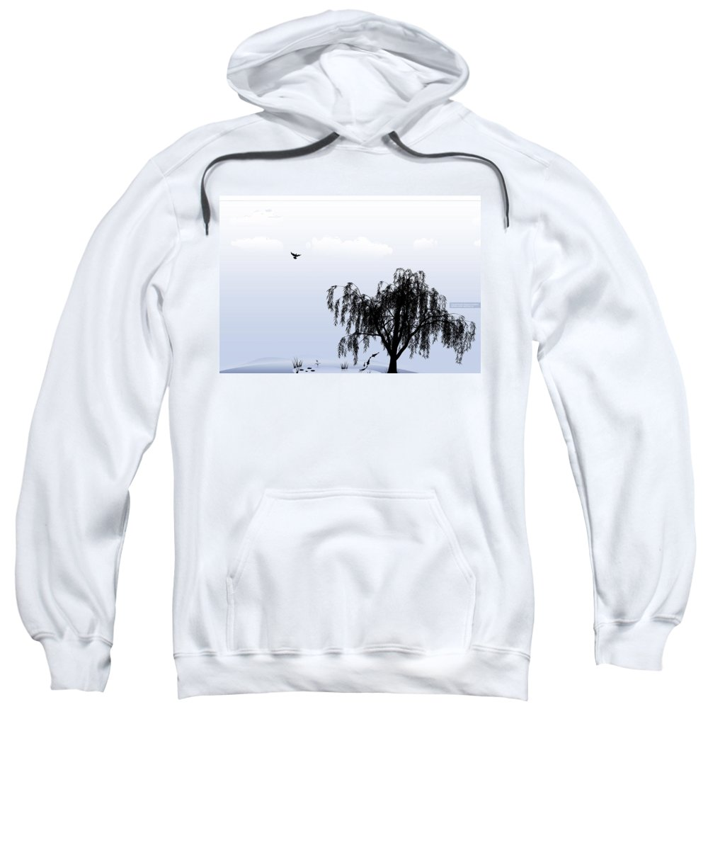 Nature Sweatshirt featuring the digital art Nature by Mery Moon