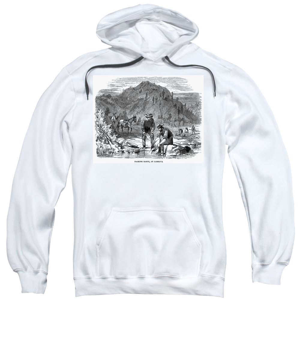 1850s Sweatshirt featuring the photograph California Gold Rush by Granger