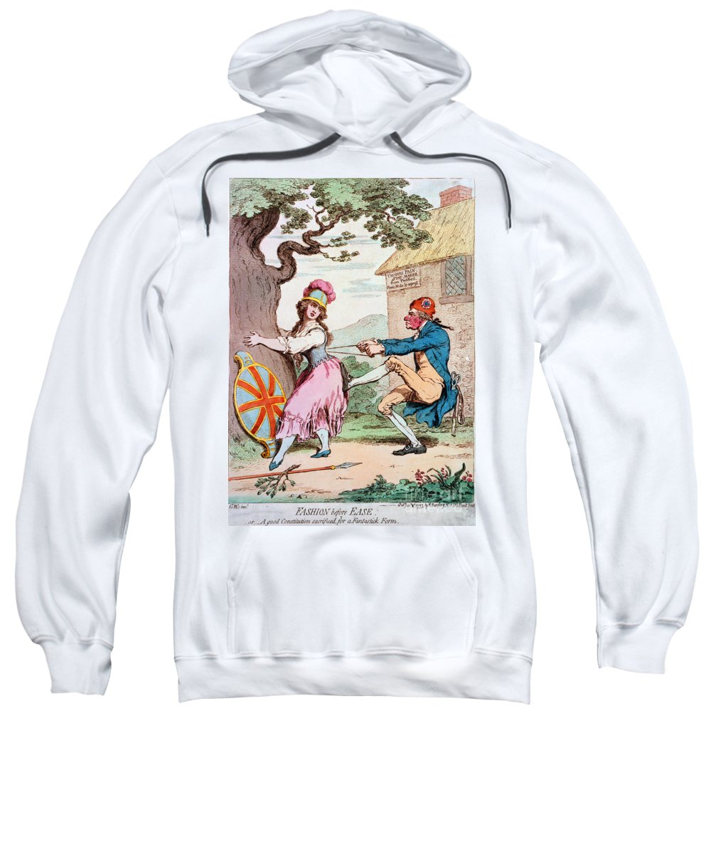 1793 Sweatshirt featuring the photograph Thomas Paine (1737-1809) by Granger