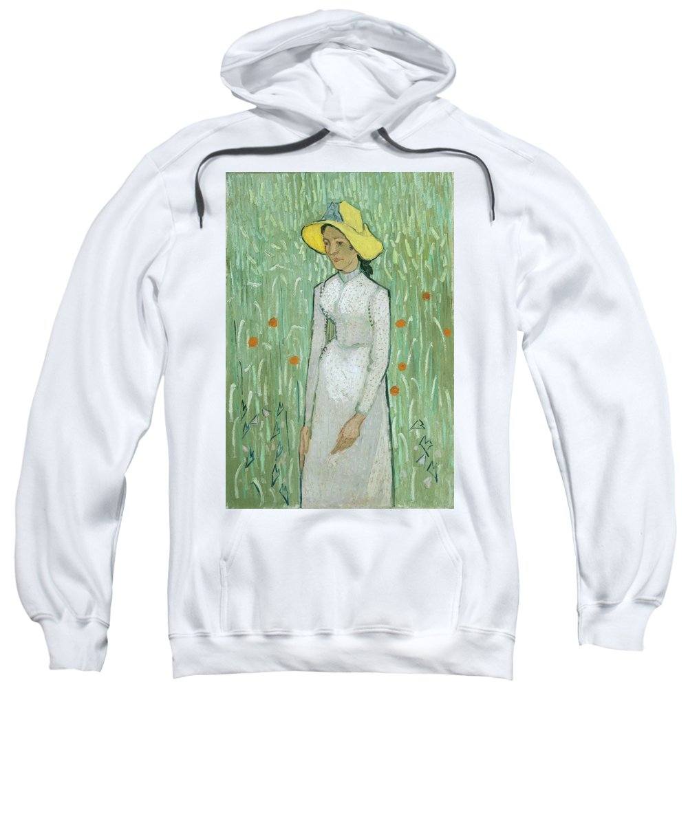 Girl In White Sweatshirt featuring the painting Girl In White by Vincent Van Gogh