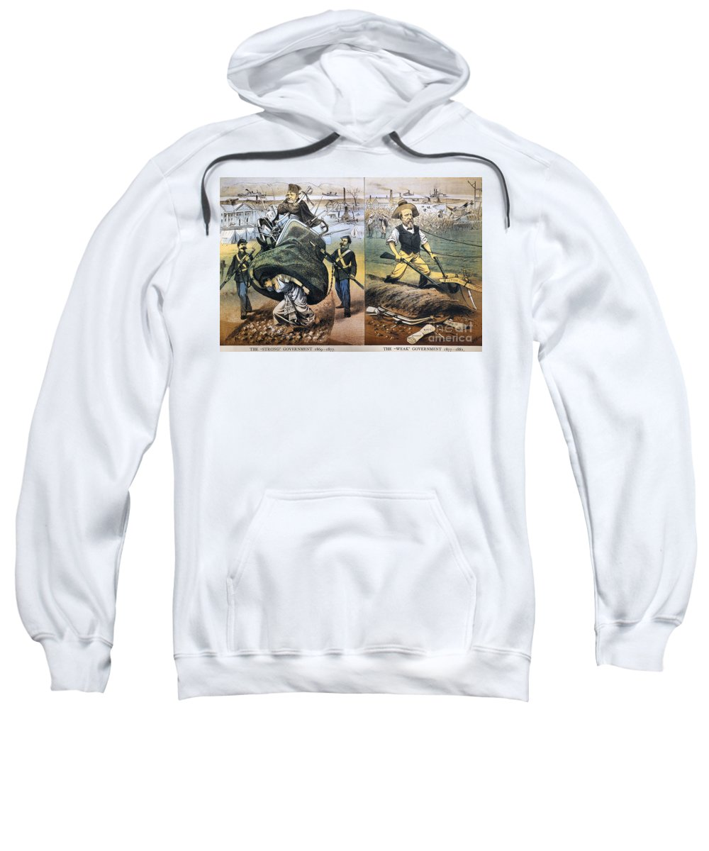 1880 Sweatshirt featuring the photograph Reconstruction Cartoon by Granger