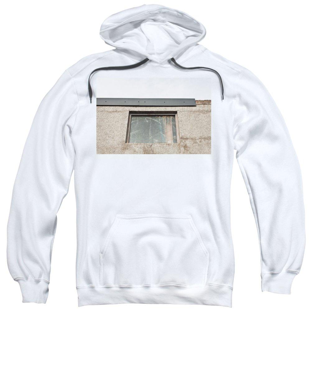 Abandoned Sweatshirt featuring the photograph Broken Window by Tom Gowanlock