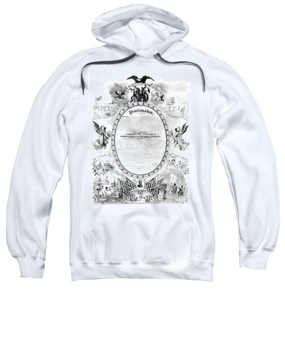 1868 Sweatshirt featuring the photograph Emancipation Proclamation by Granger