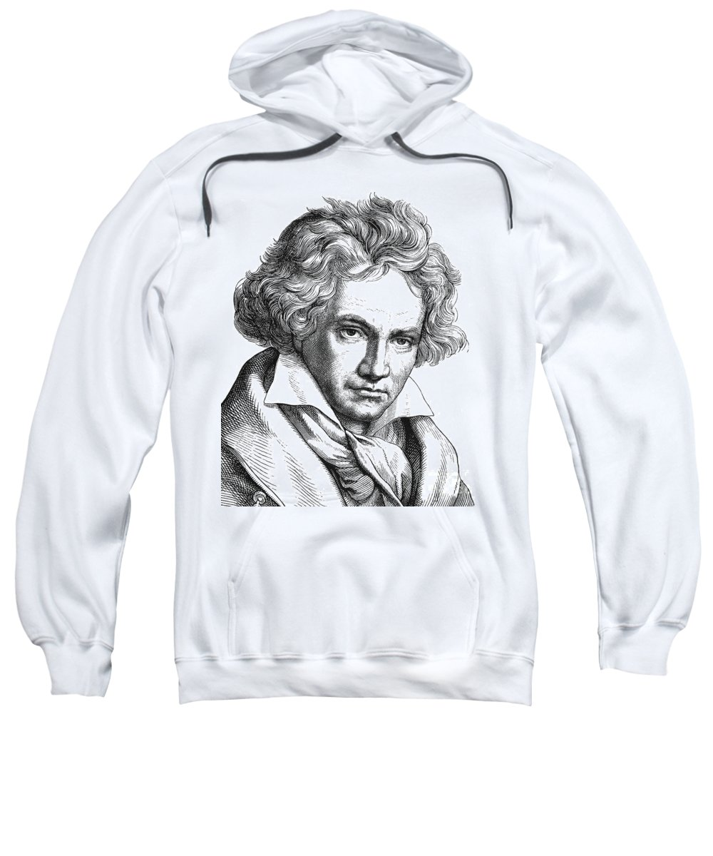 18th Century Sweatshirt featuring the photograph Ludwig Van Beethoven by Granger
