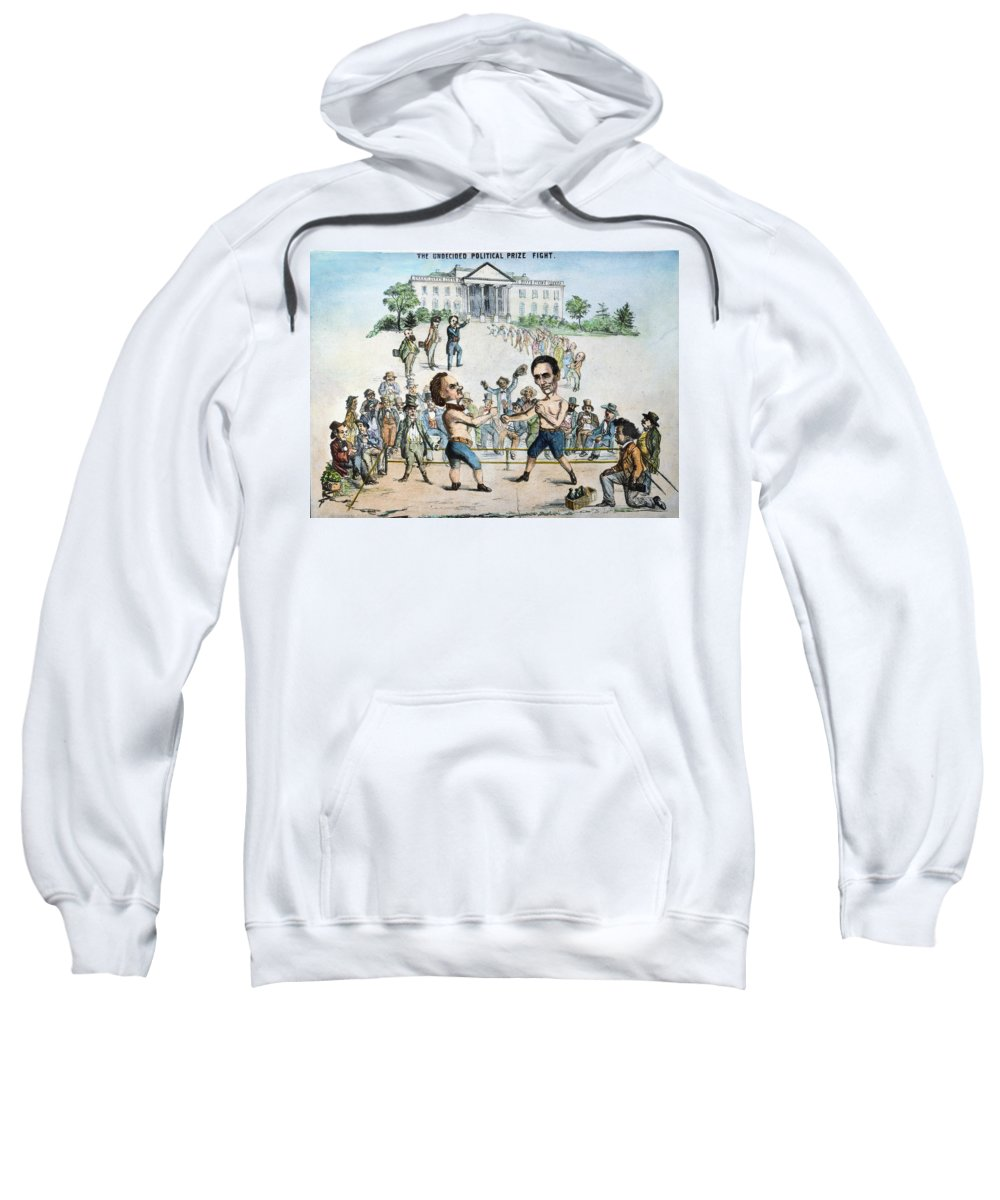 1860 Sweatshirt featuring the photograph Presidential Campaign, 1860 by Granger