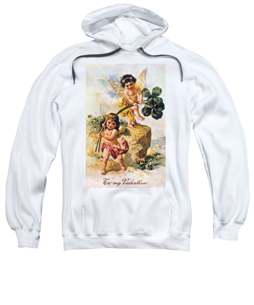 1900 Sweatshirt featuring the photograph Valentines Day Card by Granger