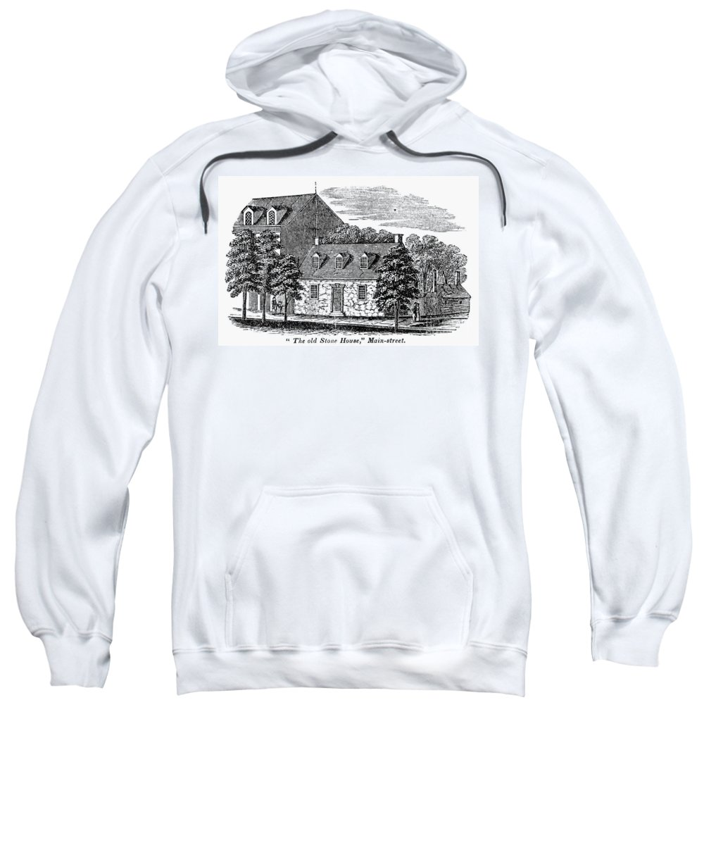 1856 Sweatshirt featuring the photograph Washington: Headquarters, by Granger
