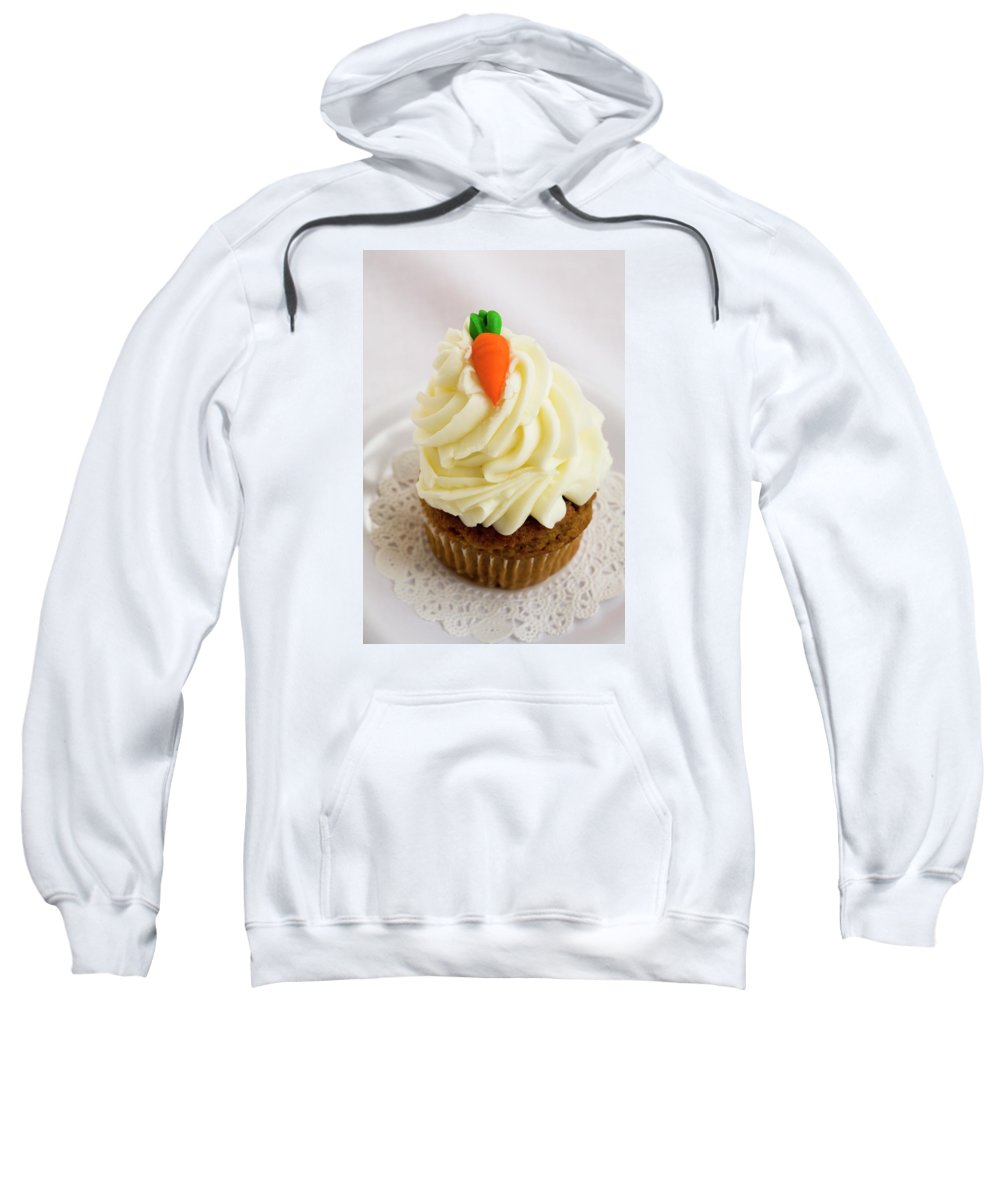 Carrot Muffin Sweatshirt featuring the photograph A Carrot Muffin by Diane Macdonald