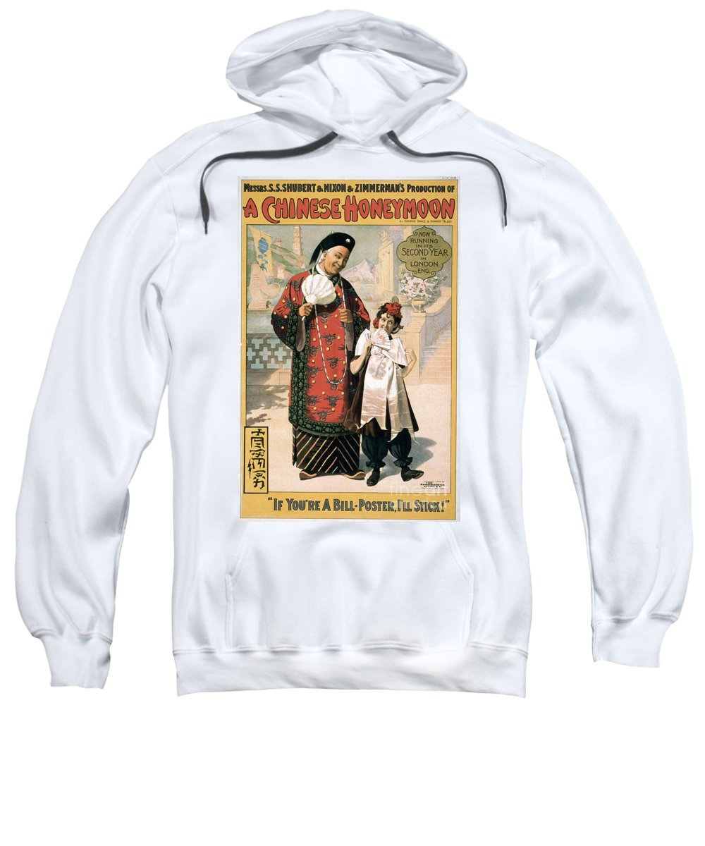 1902 Sweatshirt featuring the photograph A Chinese Honeymoon by Granger