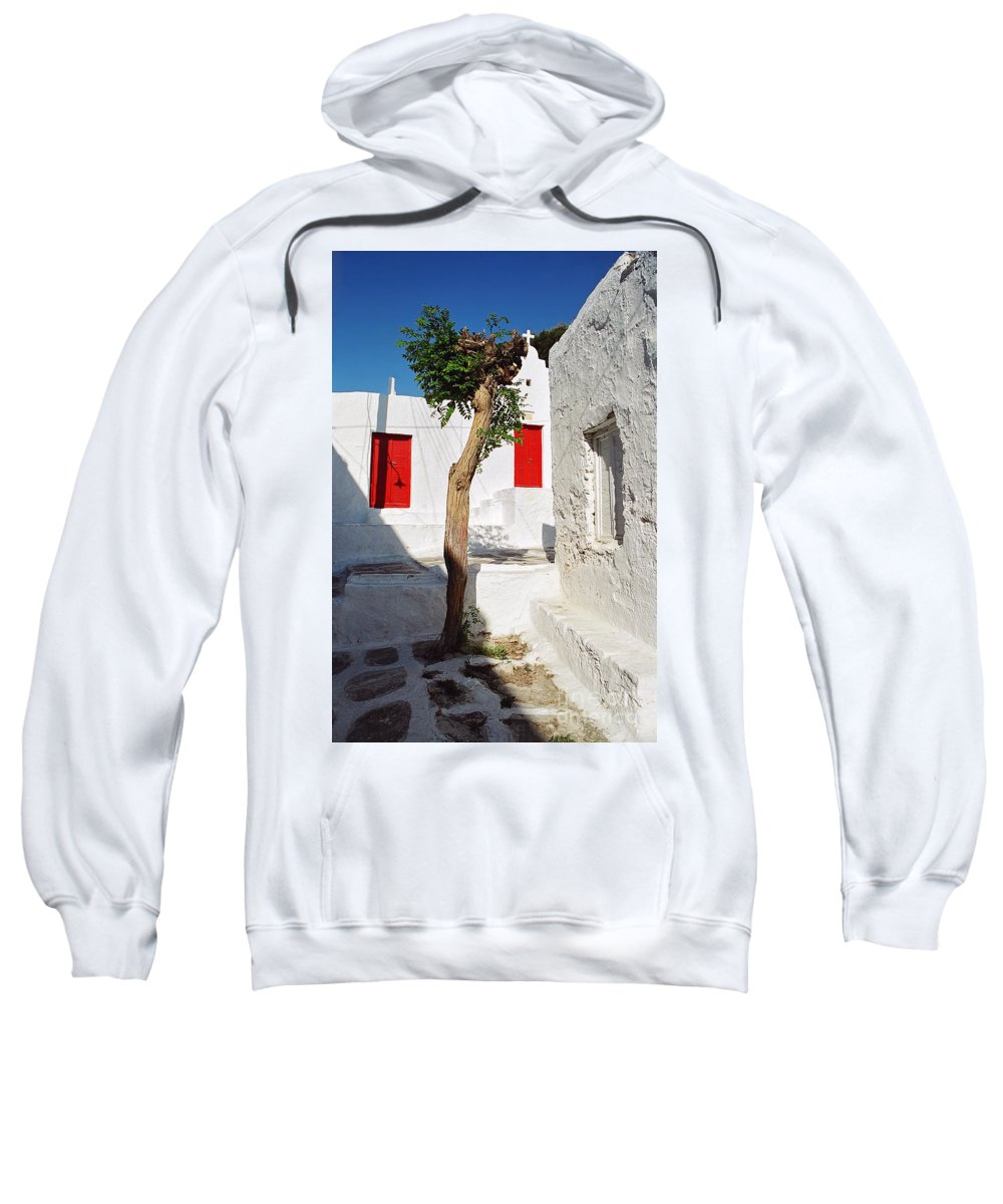 Church Sweatshirt featuring the photograph A Church And A Tree by Madeline Ellis