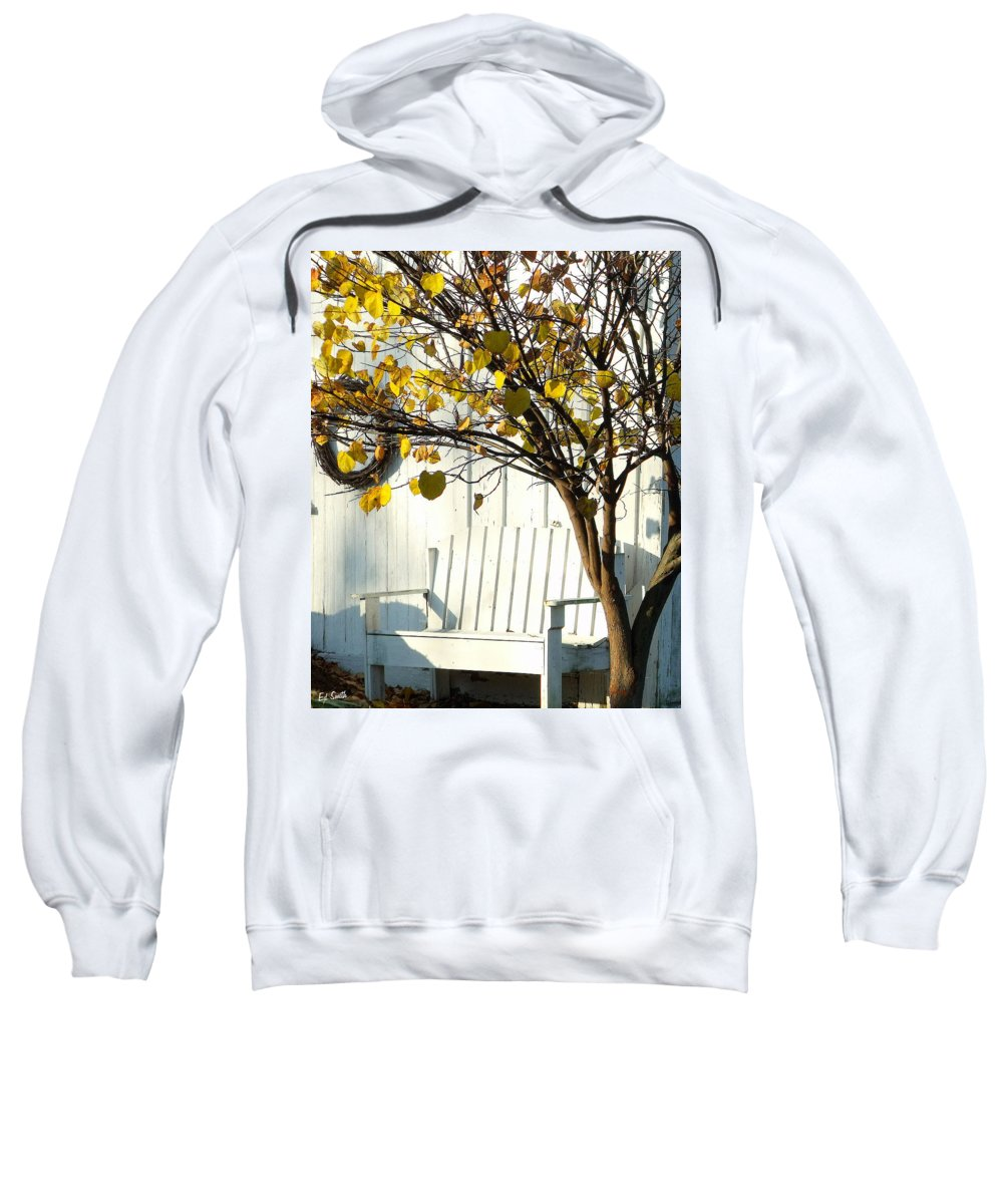 Cozy Sweatshirt featuring the photograph A Cozy Corner by Ed Smith