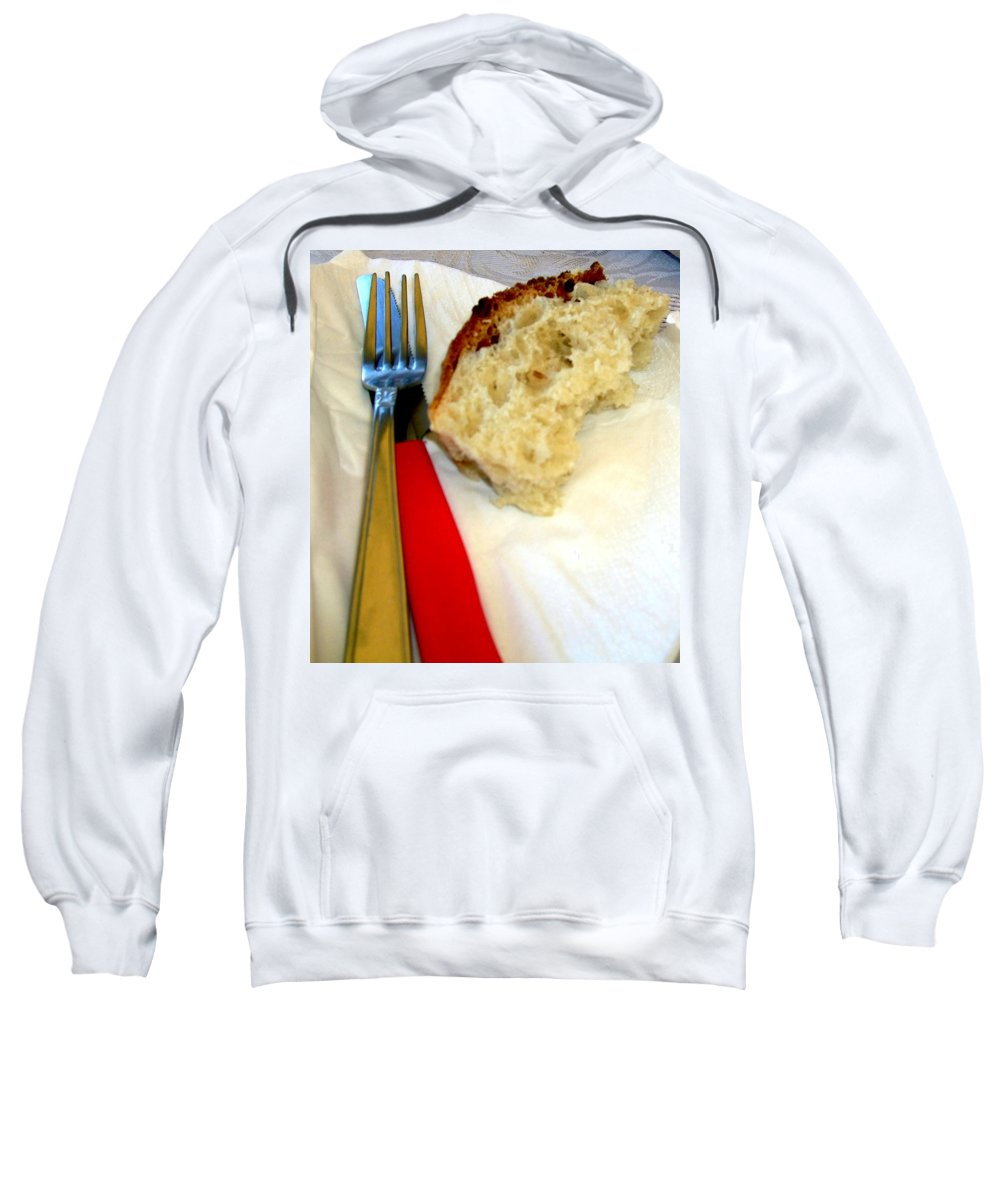Bread Sweatshirt featuring the photograph A Crust Of Bread by Mindy Newman