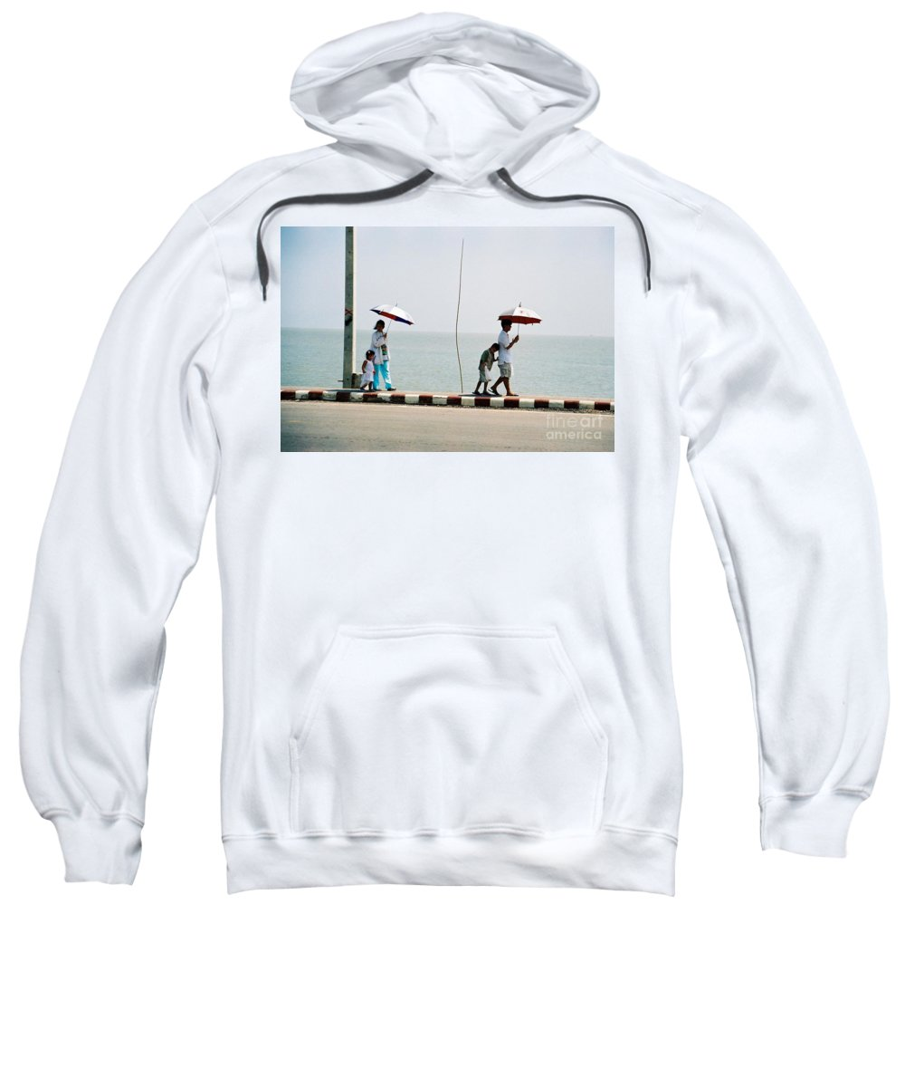 Landscape Sweatshirt featuring the photograph A Day By The Sea by Mary Rogers