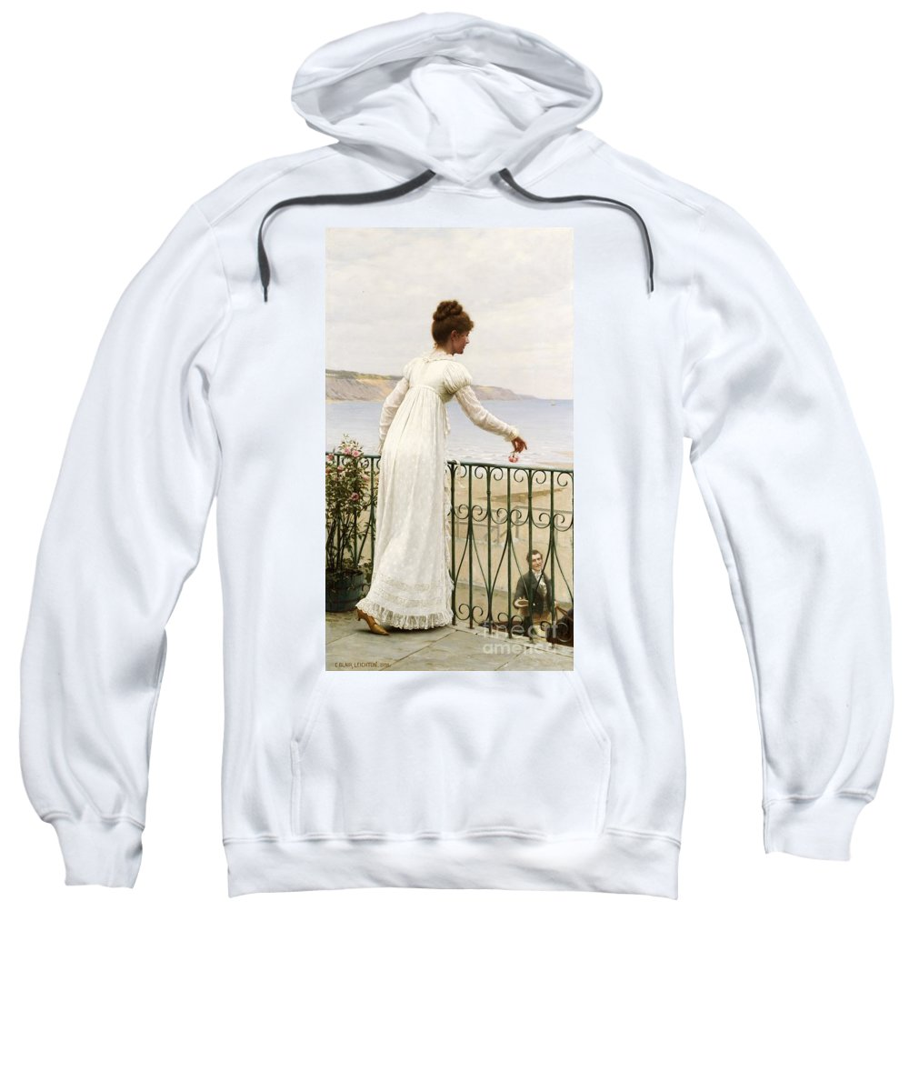A Favour Sweatshirt featuring the painting A Favour by Edmund Blair Leighton