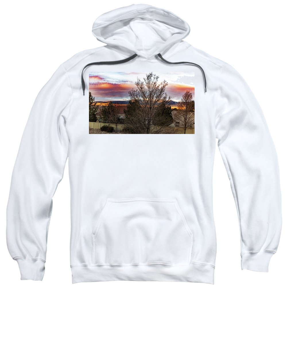 Sweatshirt featuring the photograph A Good Time To Rise by Nancy Marie Ricketts