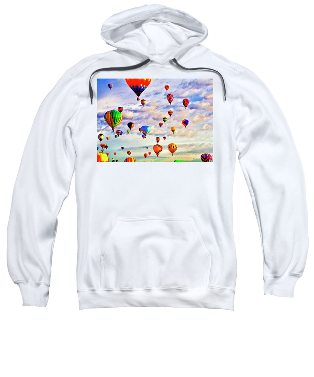 Hot Sweatshirt featuring the digital art A Great Day To Fly by Gary Baird