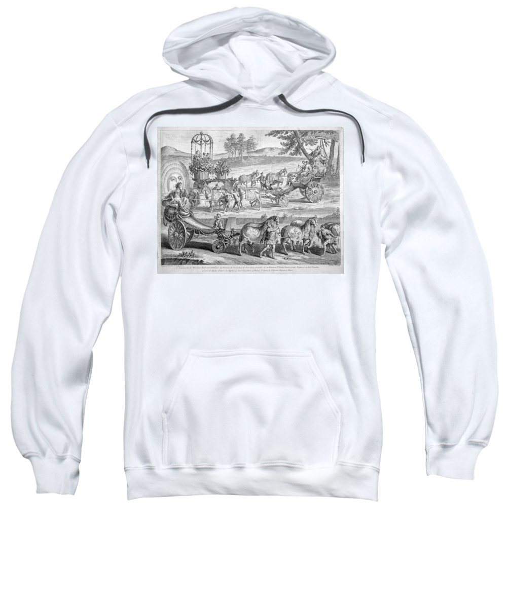 A J Defehrt Sweatshirt featuring the drawing Chariot Of Apollo by A J Defehrt