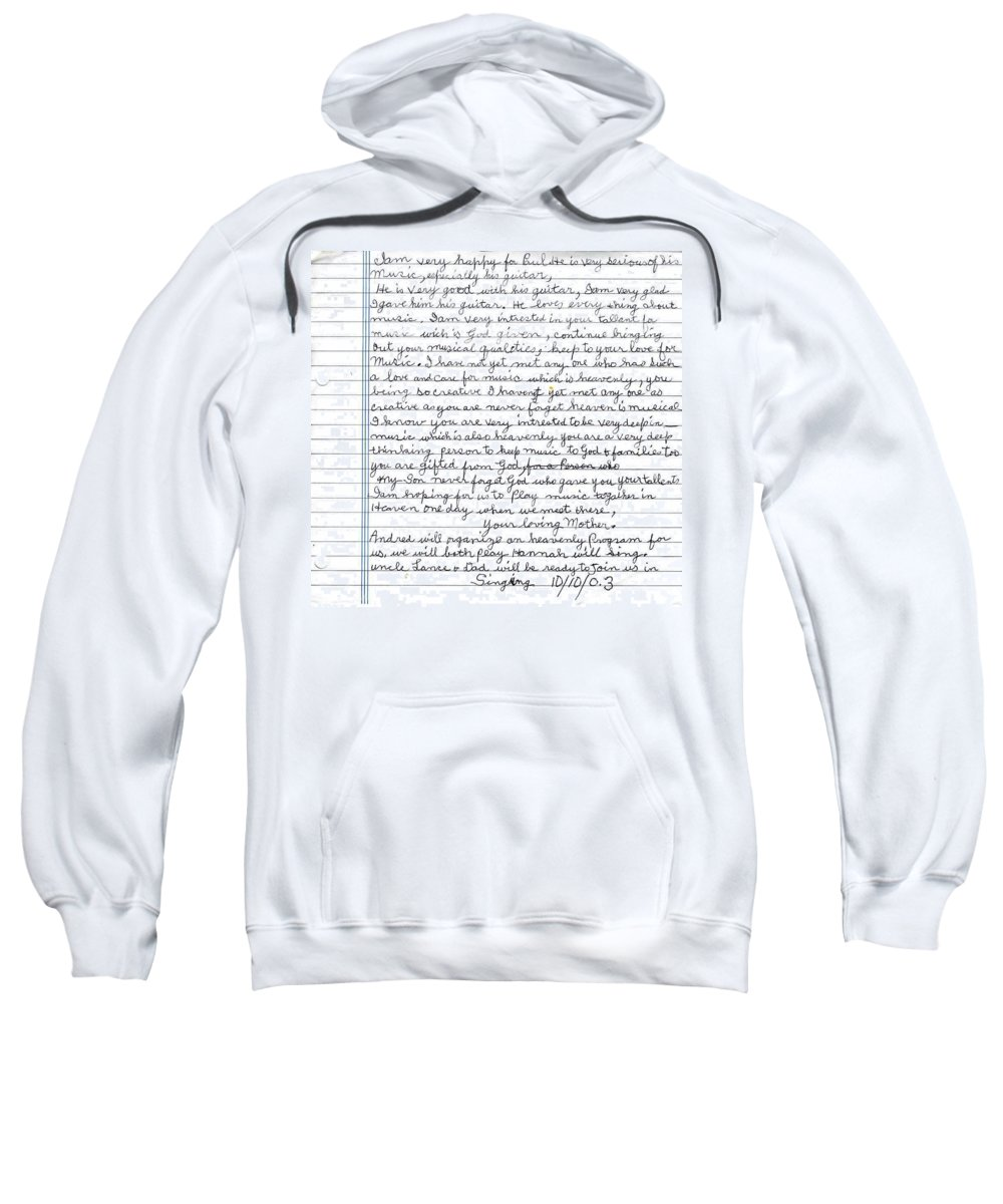 Mother Sweatshirt featuring the photograph A Mothers Last Words To Her Son Me by Paul SEQUENCE Ferguson       sequence dot net
