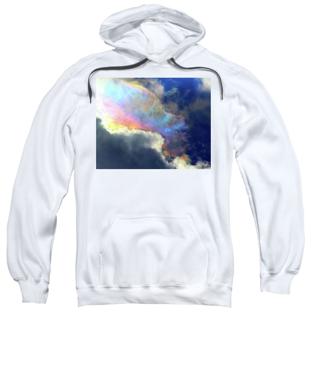Clouds Sweatshirt featuring the photograph A Rare Look by Jeff Kudla