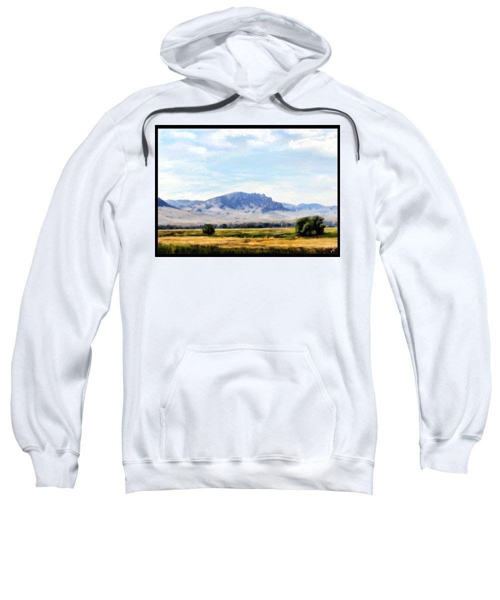 Digital Art Sweatshirt featuring the painting A Sleeping Giant by Susan Kinney