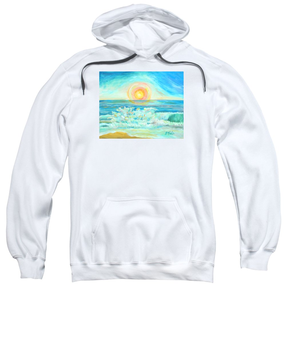 Sun Sweatshirt featuring the painting A Splash Of Dawn by Bev Veals