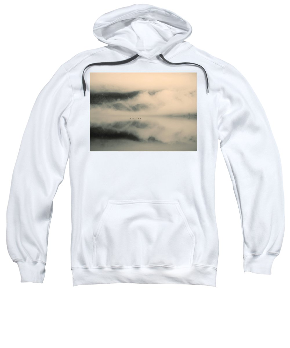 Lake Sweatshirt featuring the photograph A Study Of Clouds by Tara Turner