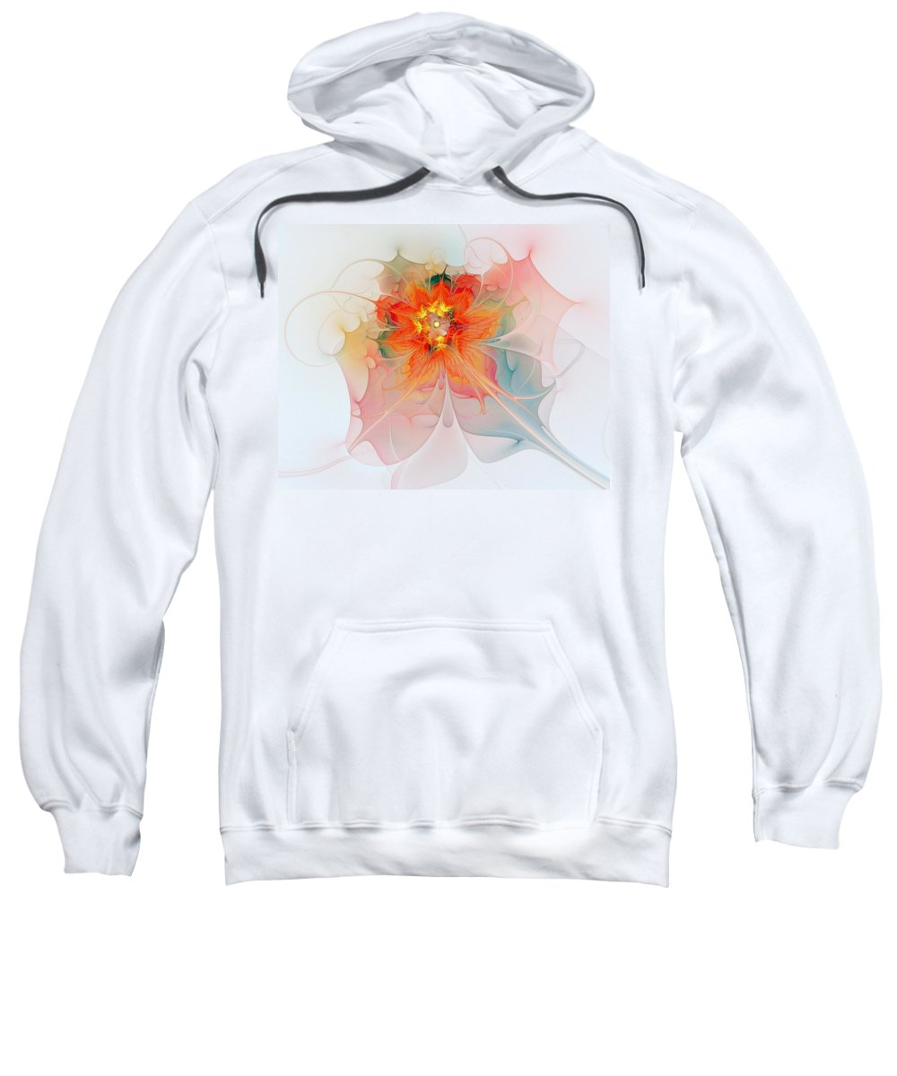 Digital Art Sweatshirt featuring the digital art A Touch Of Spring by Amanda Moore