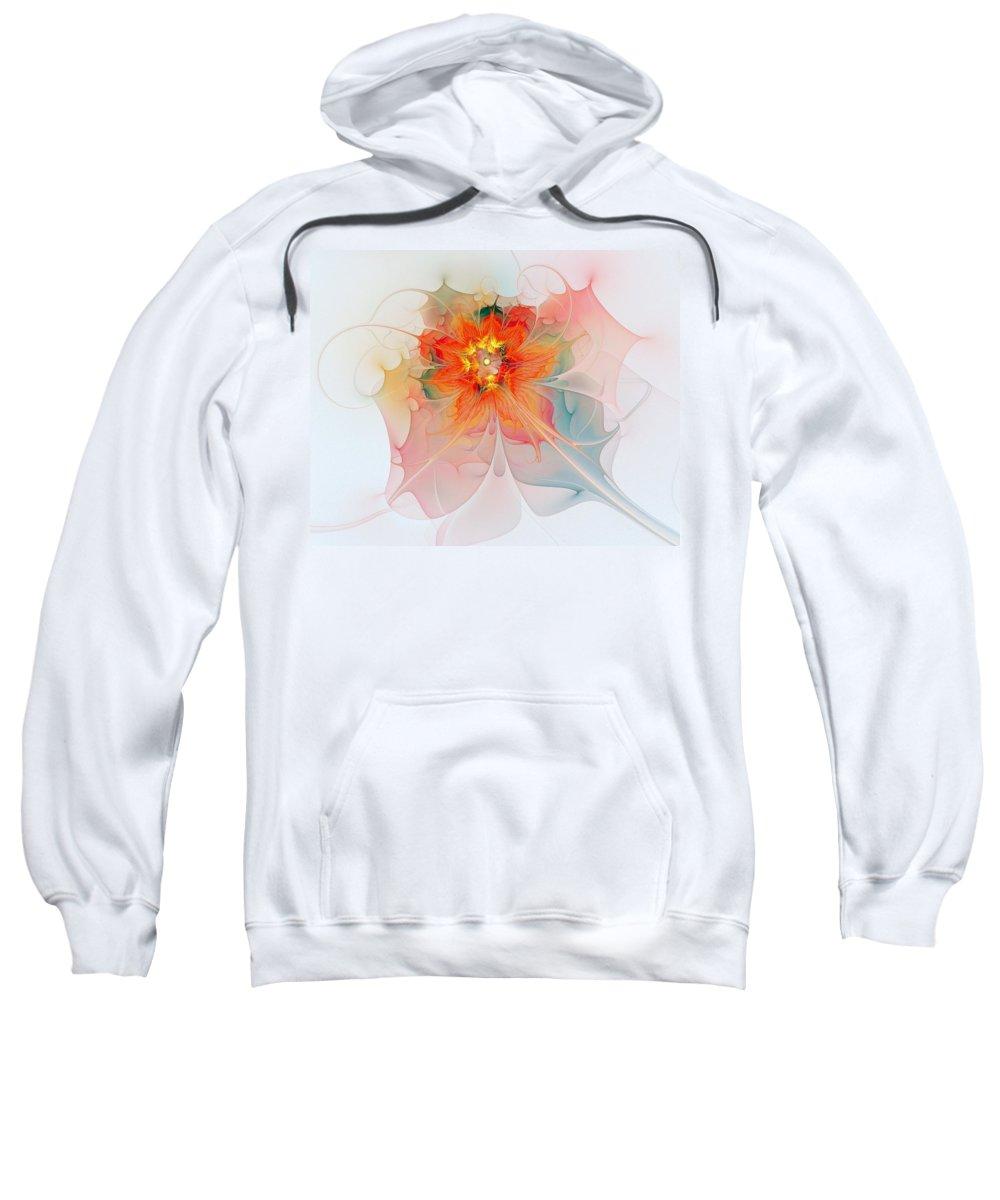 Digital Art Sweatshirt featuring the digital art A Touch of Spring by Amanda Moore
