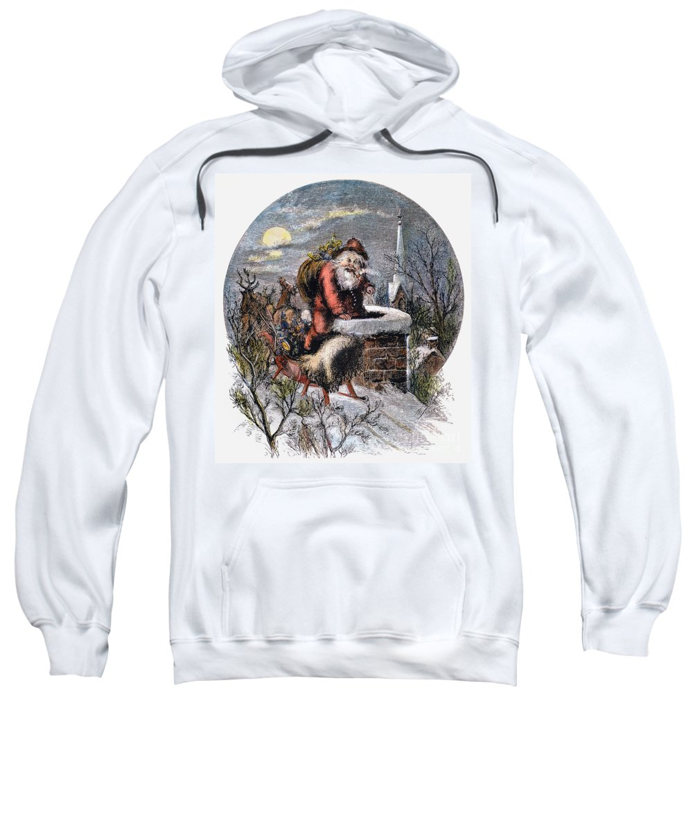 19th Century Sweatshirt featuring the photograph A Visit From St Nicholas by Granger