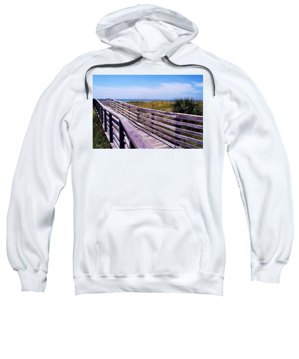 Beach Sweatshirt featuring the photograph A Walk To The Beach by Robin Monroe