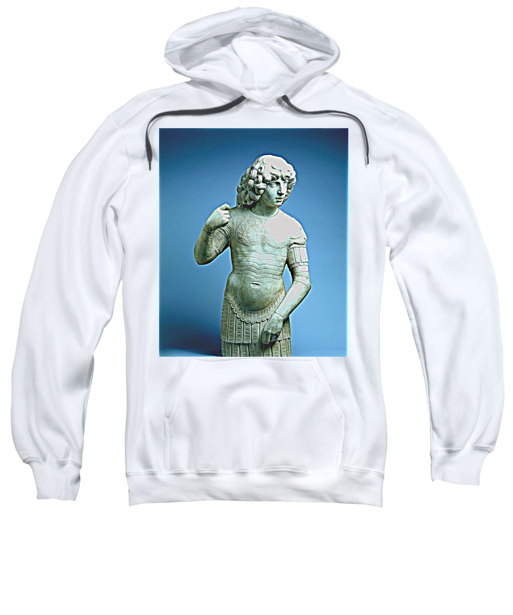 Warrior Sweatshirt featuring the painting A Young Warrior, Tullio Lombardo Poster 2 by Celestial Images