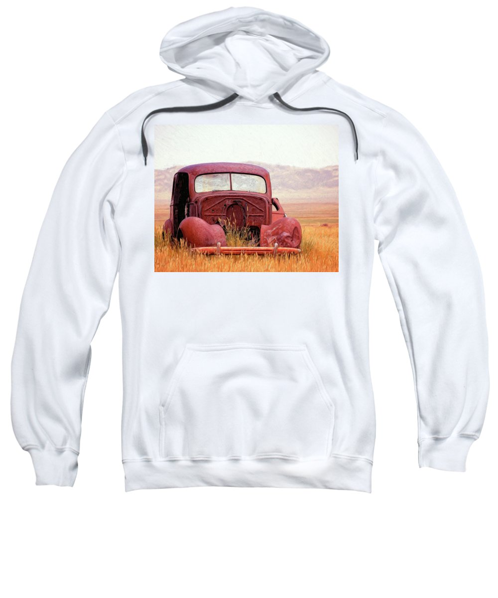 Abandoned Sweatshirt featuring the painting Abandoned 2 by Dominic Piperata