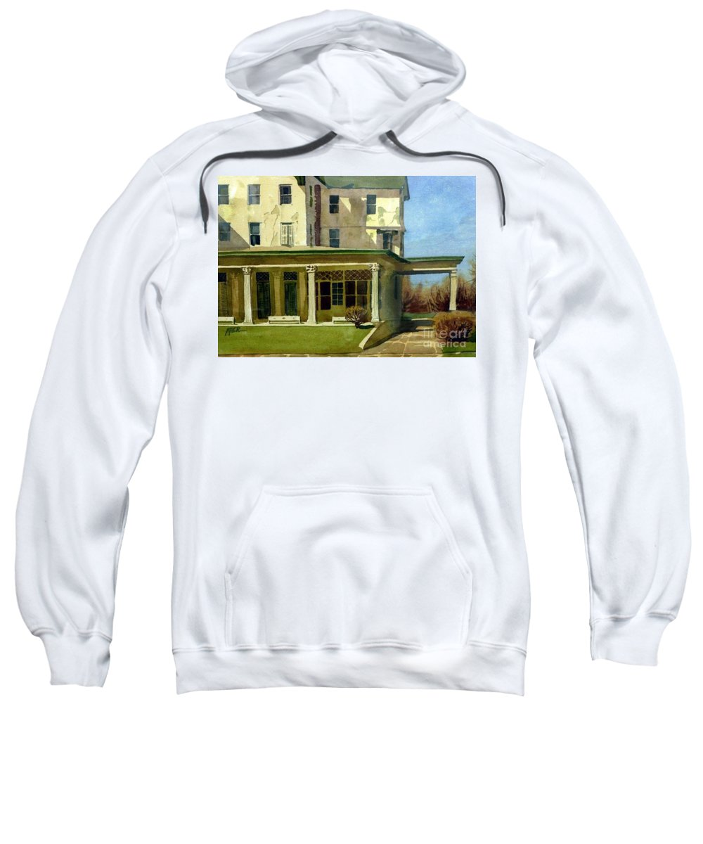 Spring Lake Sweatshirt featuring the painting Abandoned Hotel by Donald Maier