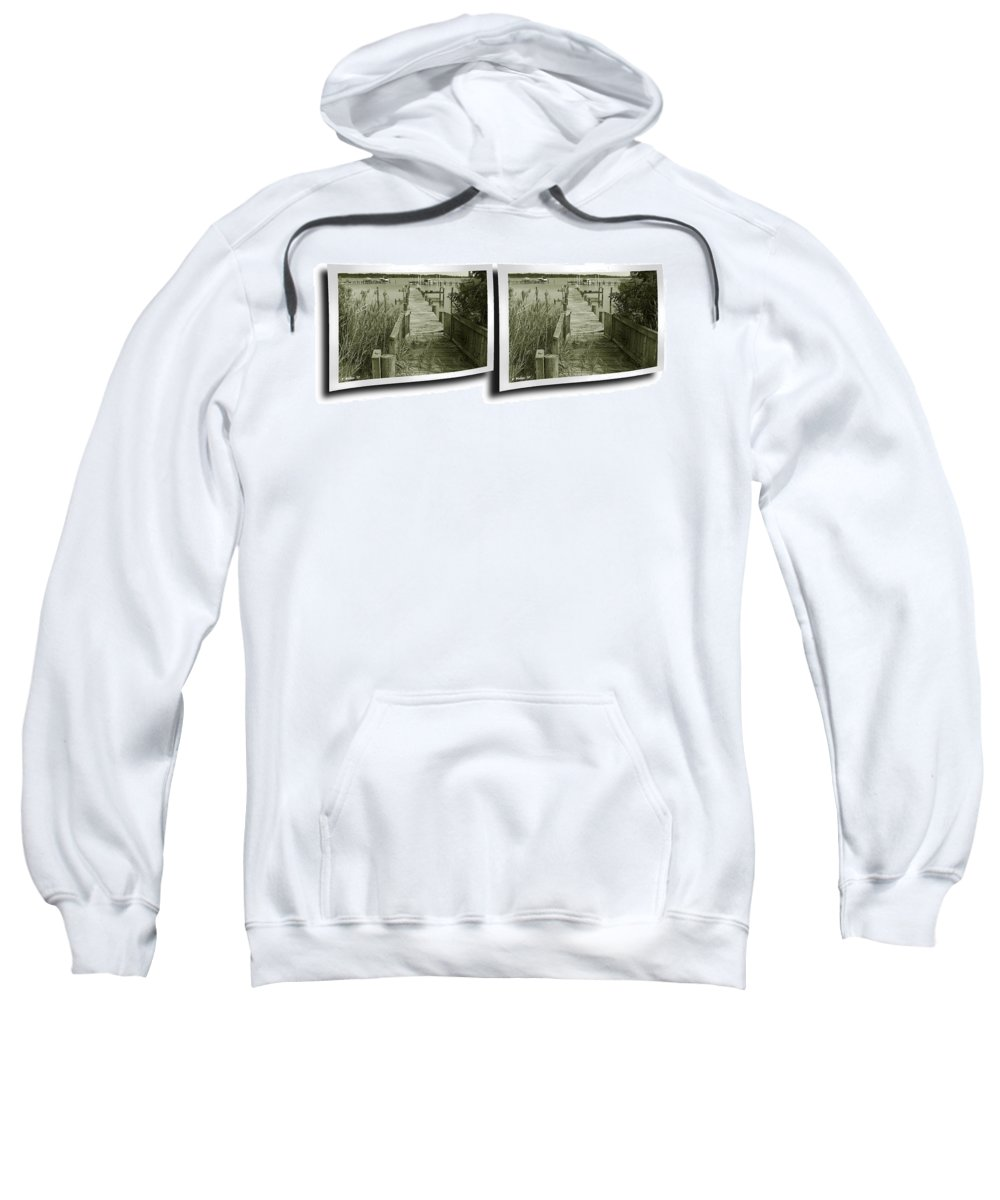 3d Sweatshirt featuring the photograph Abandoned Pier - Gently Cross Your Eyes And Focus On The Middle Image by Brian Wallace