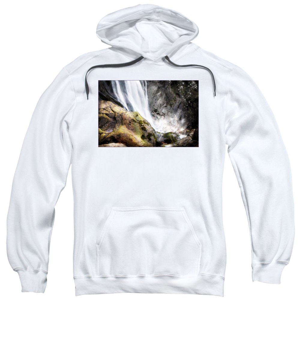 Aber Sweatshirt featuring the photograph Aber Falls by Mal Bray