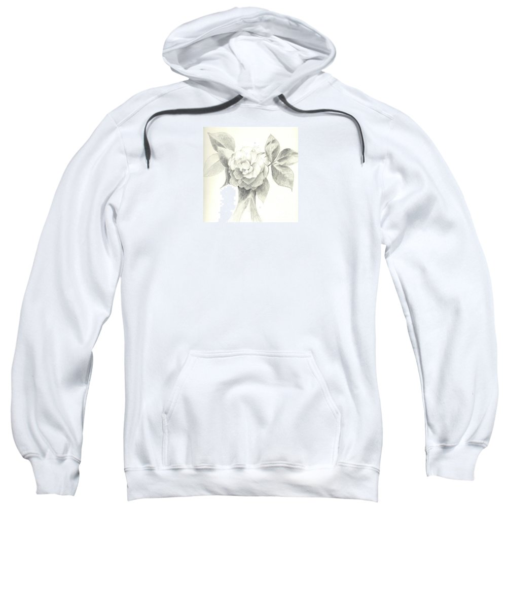 Rose Sweatshirt featuring the drawing Abracadabra by Helena Tiainen