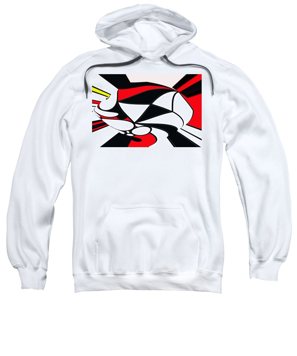 Abstract Sweatshirt featuring the digital art Abstrac7-30-09-b by David Lane