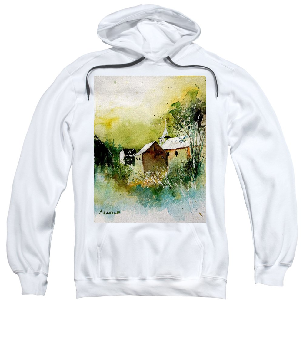 Village Sweatshirt featuring the painting Abstract 260608 by Pol Ledent