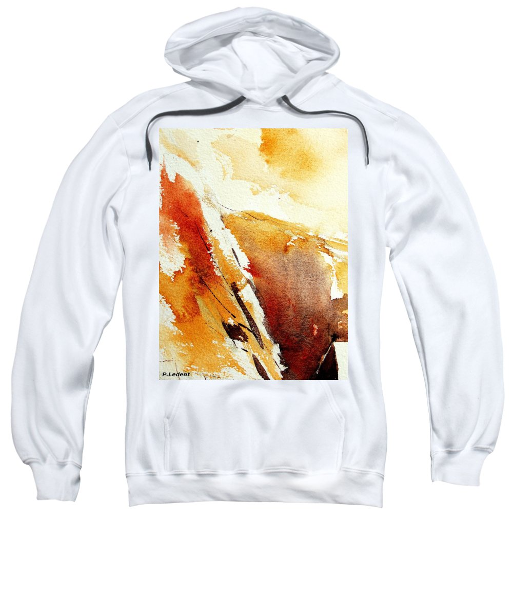 Abstract Sweatshirt featuring the painting Abstract 5869 by Pol Ledent
