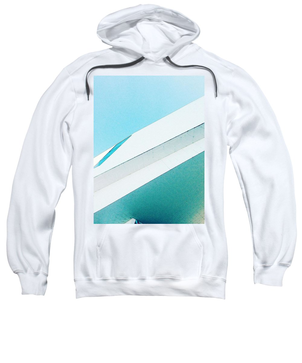 Abstract Sweatshirt featuring the painting Abstract Color Of Architecture by Celestial Images